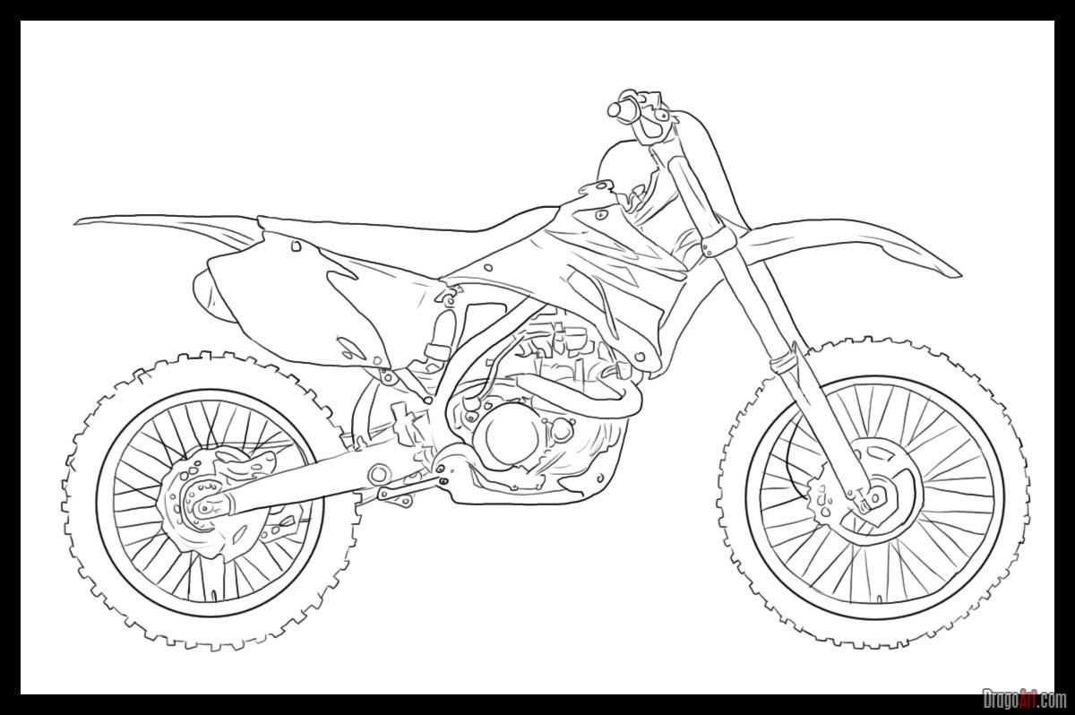 png free stock Dirtbike drawing. How to draw a