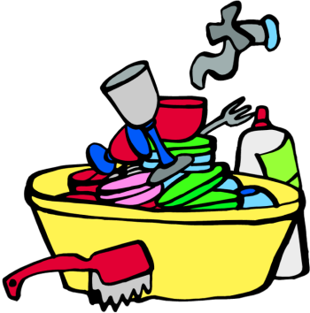 vector free library Dirty plates . Dishes clipart