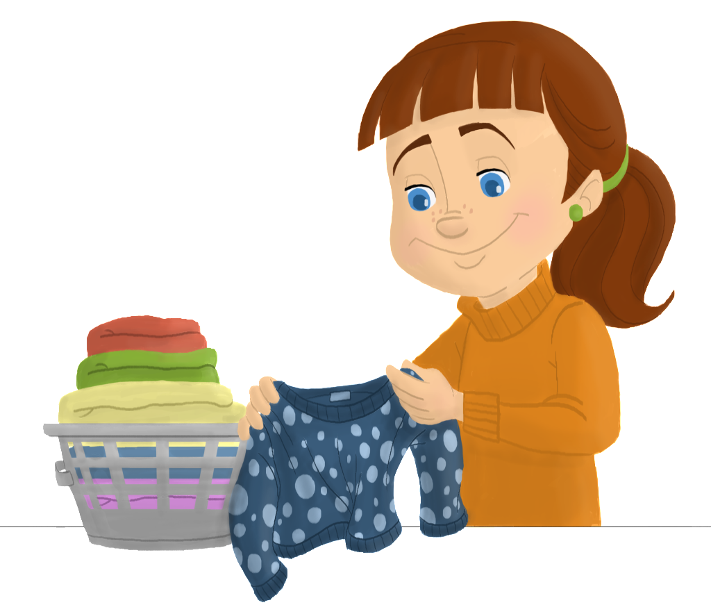 banner royalty free Folded Laundry Clipart