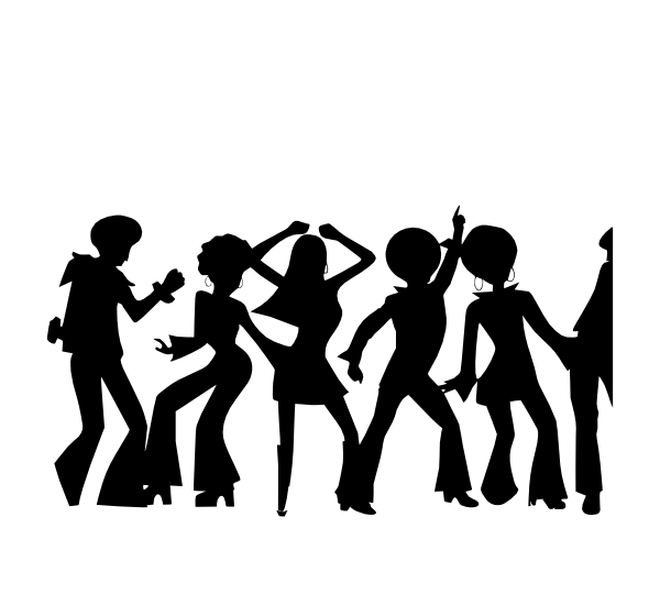 picture royalty free download Bw clip art at. Disco clipart
