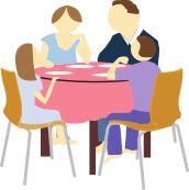 image royalty free Family . Discussion clipart