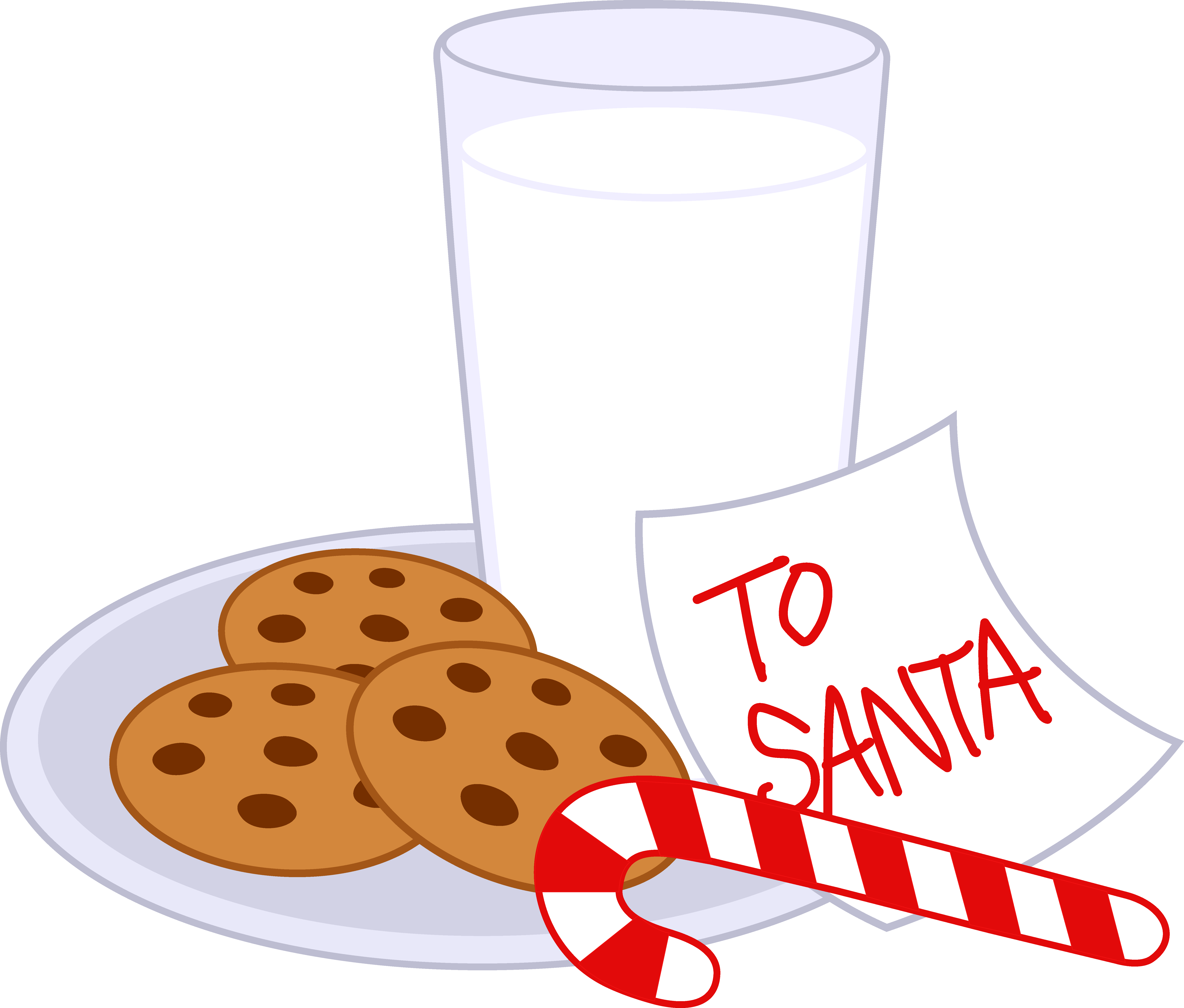 image library stock Dish clipart christmas. Cookies and milk for