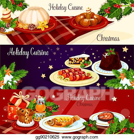 vector freeuse stock Dish clipart christmas. Eps vector dinner dishes