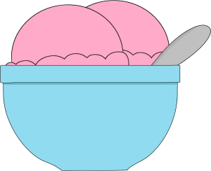 graphic freeuse library Panda free images icecreamscoopclipart. Dish clipart ice cream bowl