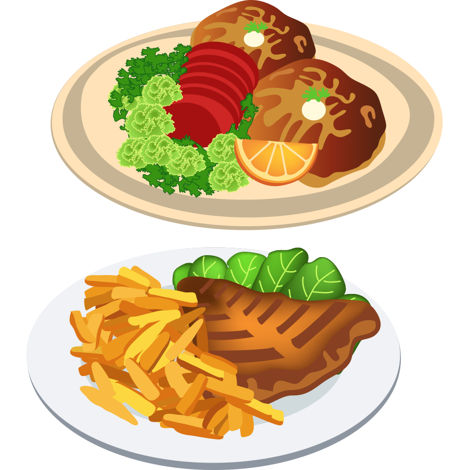 png freeuse stock Fast food dinner clip. Dish clipart side dish