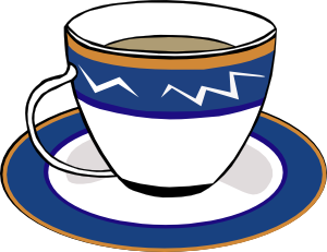 vector transparent stock A cup and dish. Dishes clipart