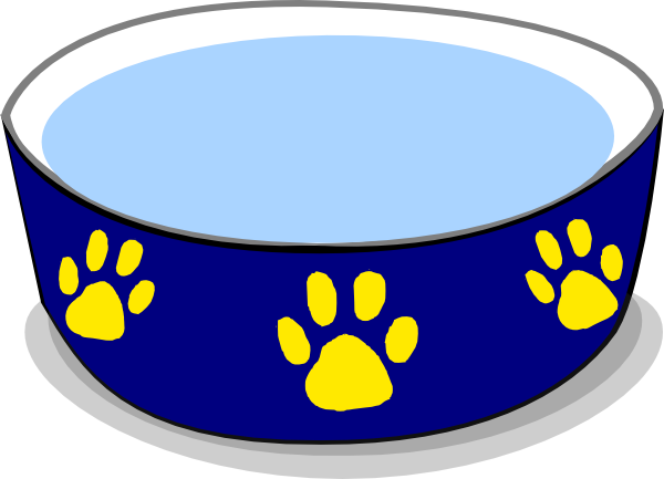 jpg royalty free stock Dog Water Bowl Clip Art at Clker
