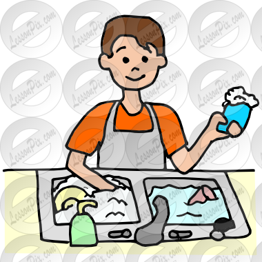 image free stock Dishwasher clipart. Picture for classroom therapy