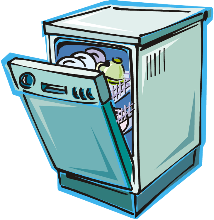 png freeuse stock Free . Dishwasher clipart.