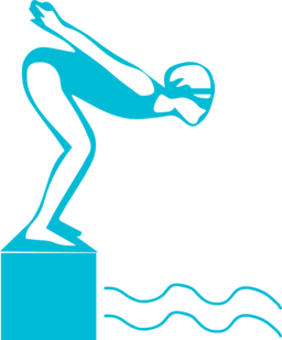 clip Diver swimmer free on. Diving clipart.