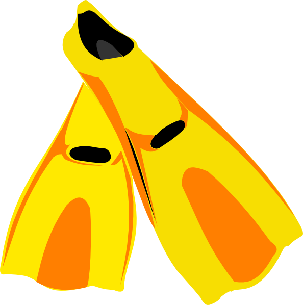 image royalty free download Snorkel Fins Clip Art at Clker