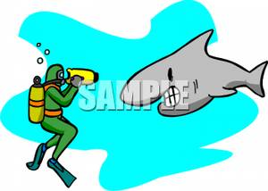 svg library stock Diver clipart swim with shark. A scuba taking video