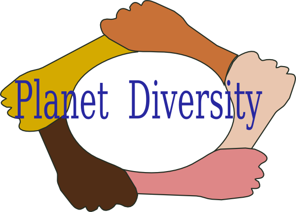 svg freeuse stock Planet clip art at. Diversity clipart