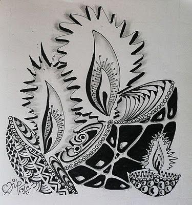 clip art free download Beautiful Diwali Diyas Sketch