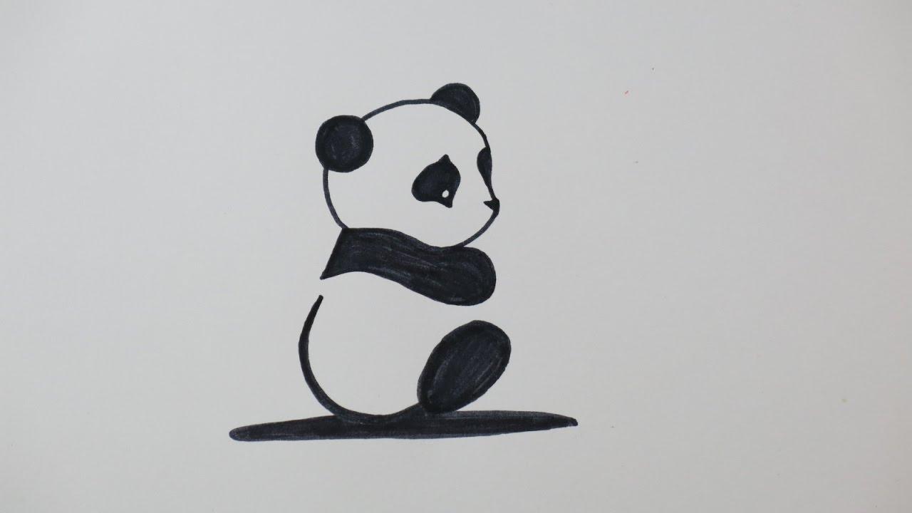 banner transparent library Diy drawing. A cute panda fun