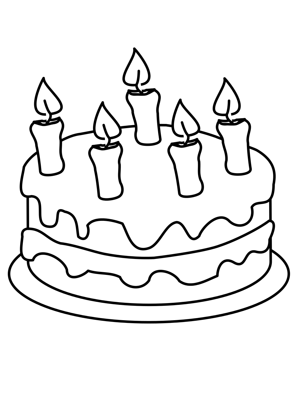 transparent stock Happy Birthday Cake Drawing at GetDrawings