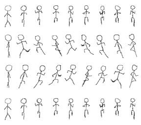 clipart transparent stock Drawing stick fighting. Figure running animation sprite