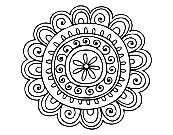 png black and white download Vector color mandala. Mandalas online drawing at