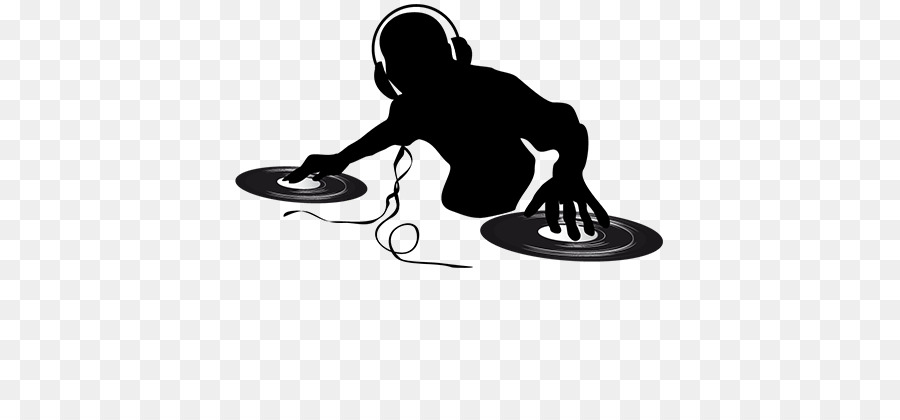 image freeuse library Dj clipart. Logo music silhouette line.