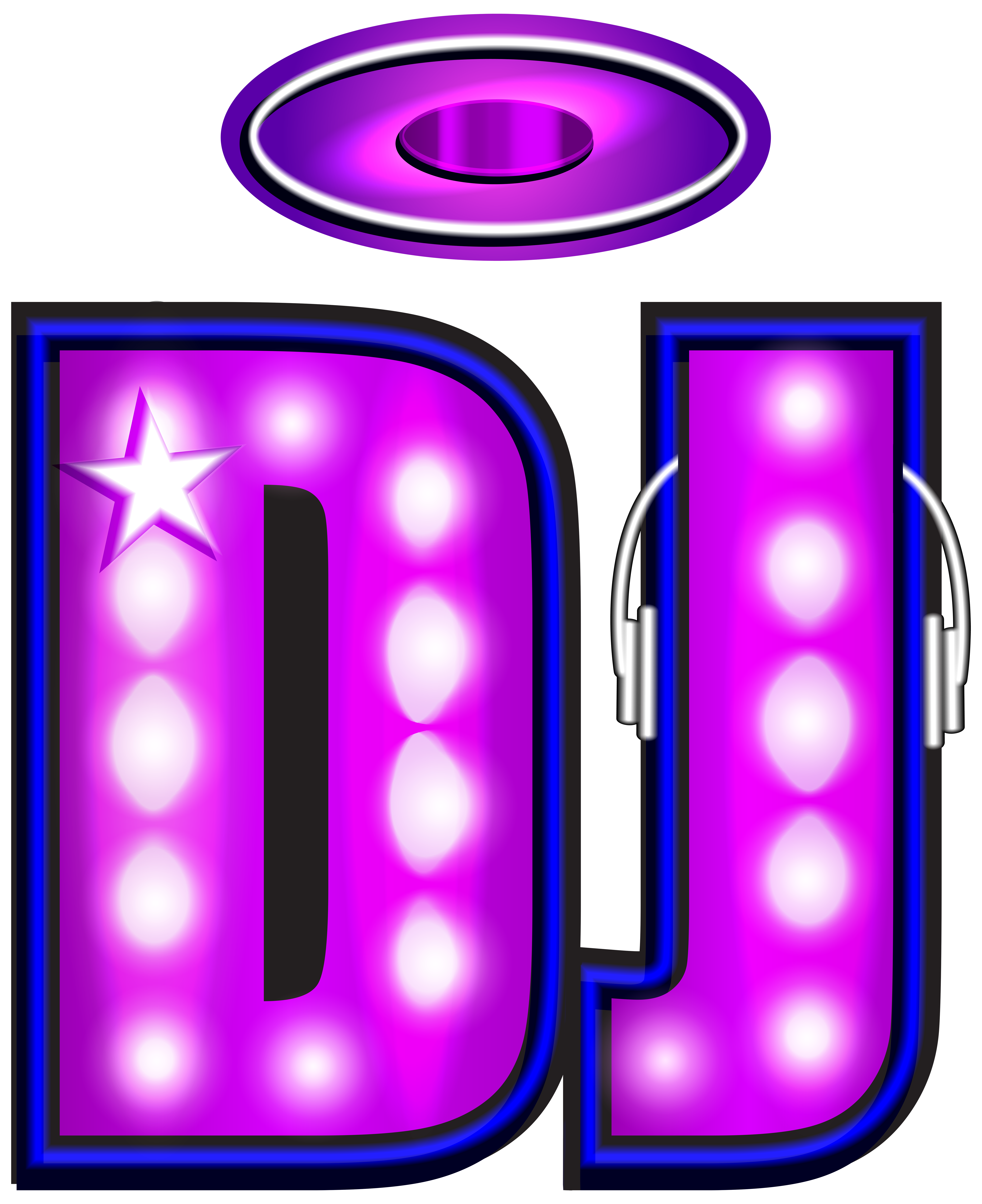 graphic royalty free stock Dj clipart. Neon png clip art.