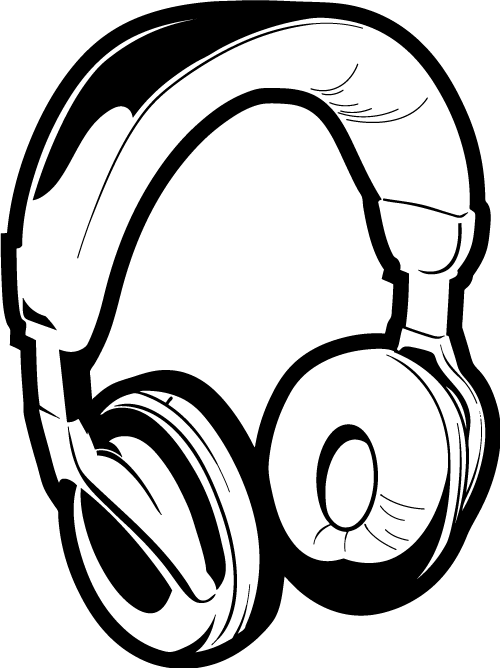 clip royalty free library Dj clipart. Headphones drawing .
