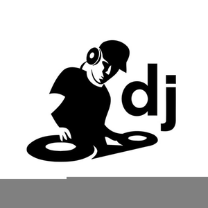 library Black and white free. Dj clipart