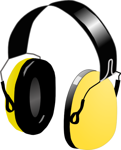 clipart black and white Dj Headphones Clip Art