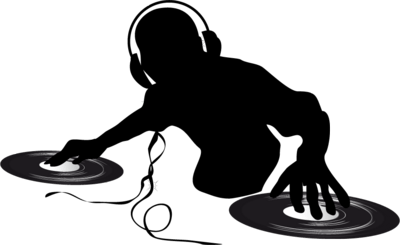 download Silhouette transparent png stickpng. Dj clipart.