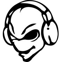 banner black and white Alien DJ
