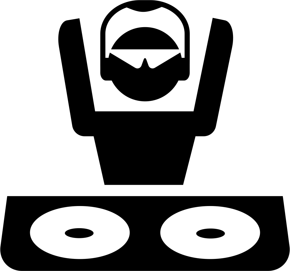 banner free library Disc Jockey With Shades And Headphones At Dj Booth Svg Png Icon Free