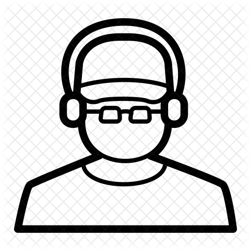 svg black and white stock Dj Icon