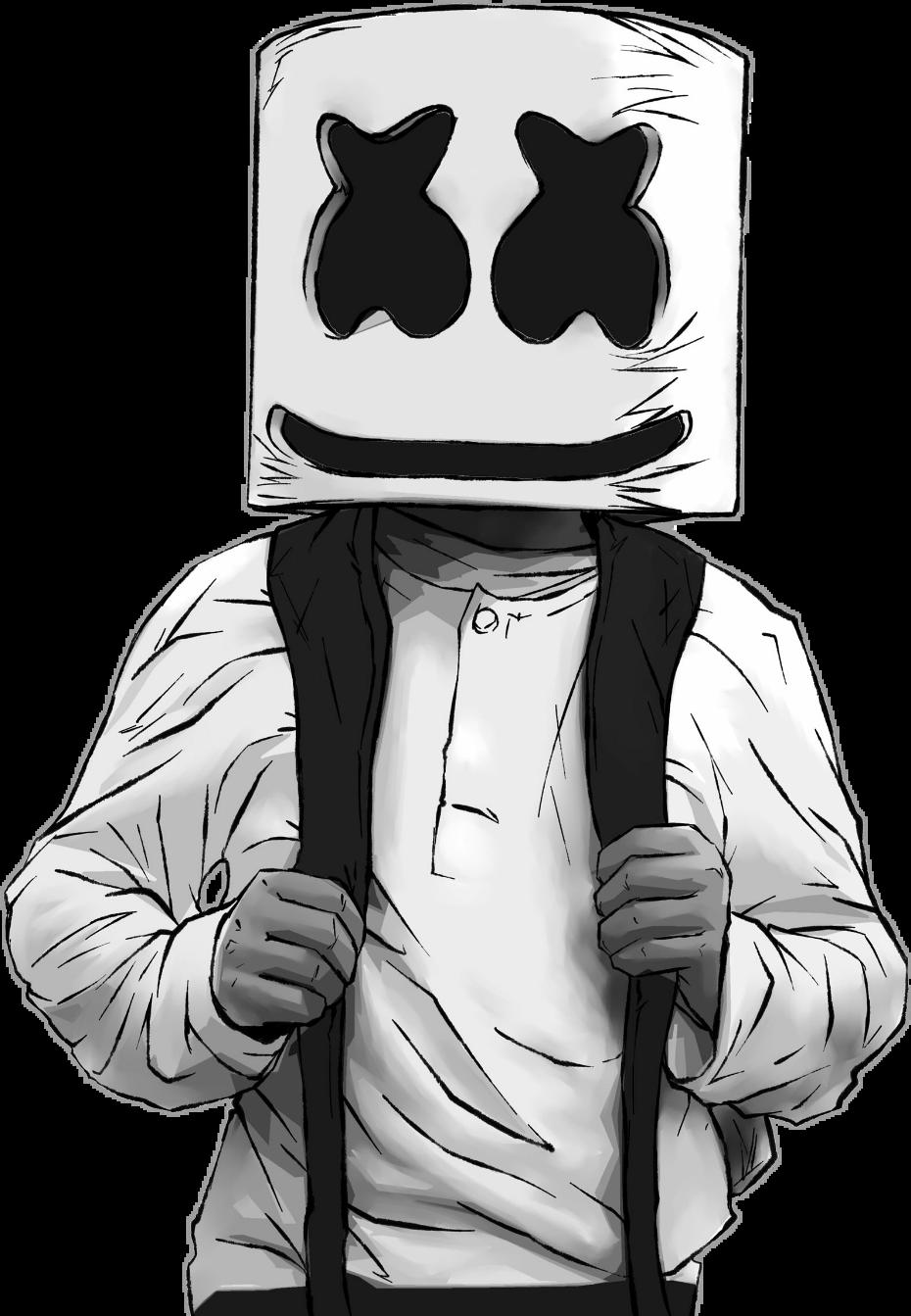 graphic black and white download marshmello dj