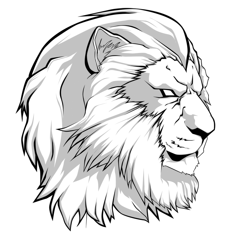 picture royalty free Drawing charcoal lion. Rasta at getdrawings com