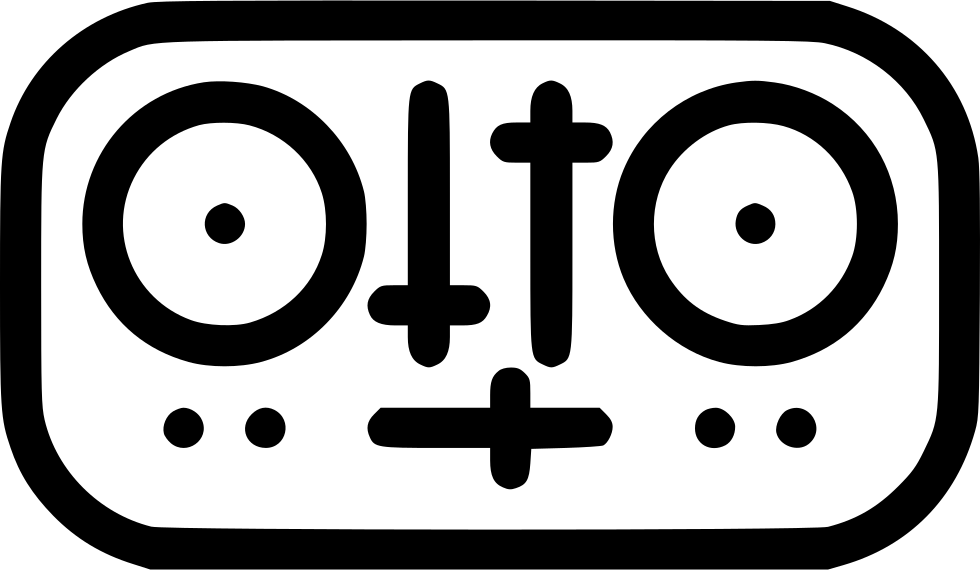 png black and white stock Dj Mixer Svg Png Icon Free Download