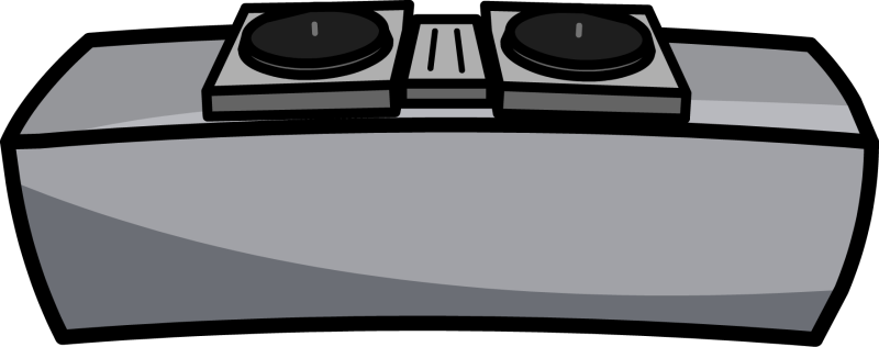 image black and white stock dj table clipart