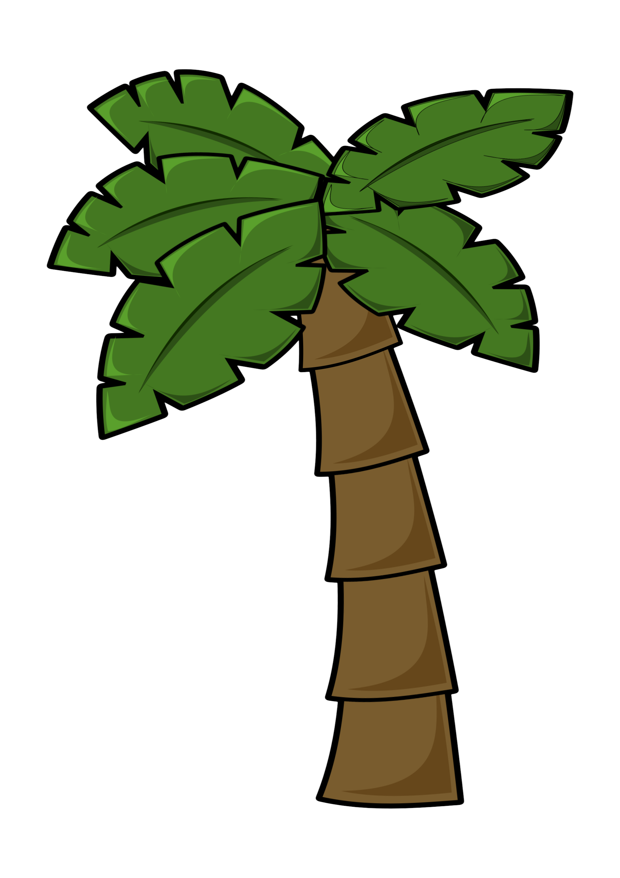 clip art stock Free cartoon palm tree. Watching clipart simple