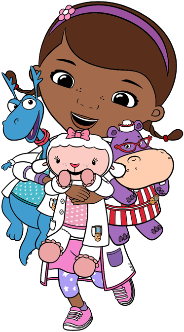 png black and white stock Doc McStuffins Clip Art
