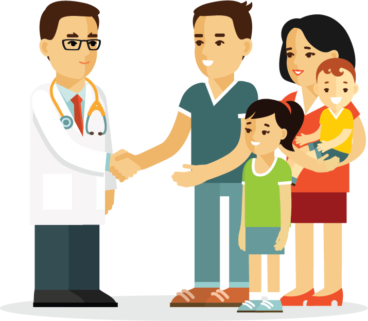 png library download Practice mydrnow for your. Vector doctor family