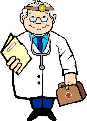 clip art black and white library . Doctor clipart
