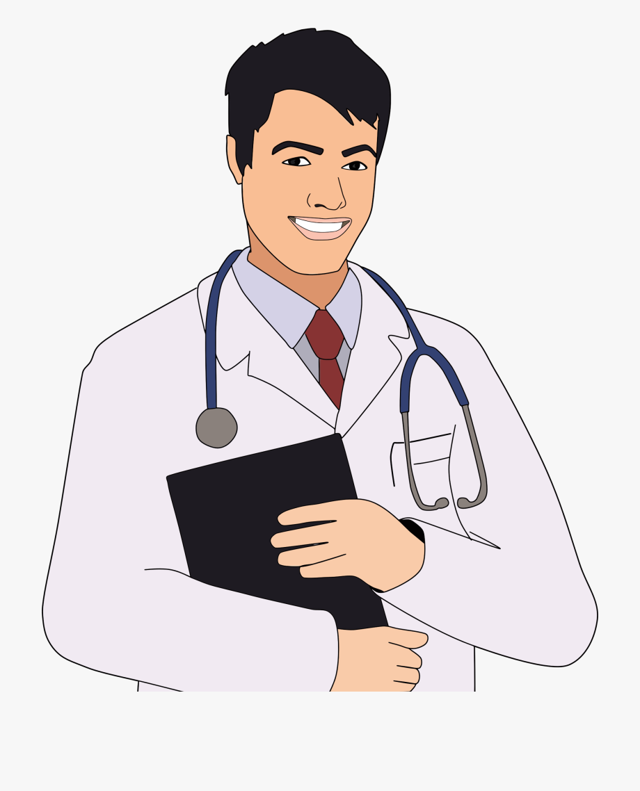 transparent Male clip art of. Doctor clipart