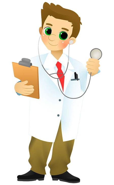 image library Vector doctor family. The oath by swati