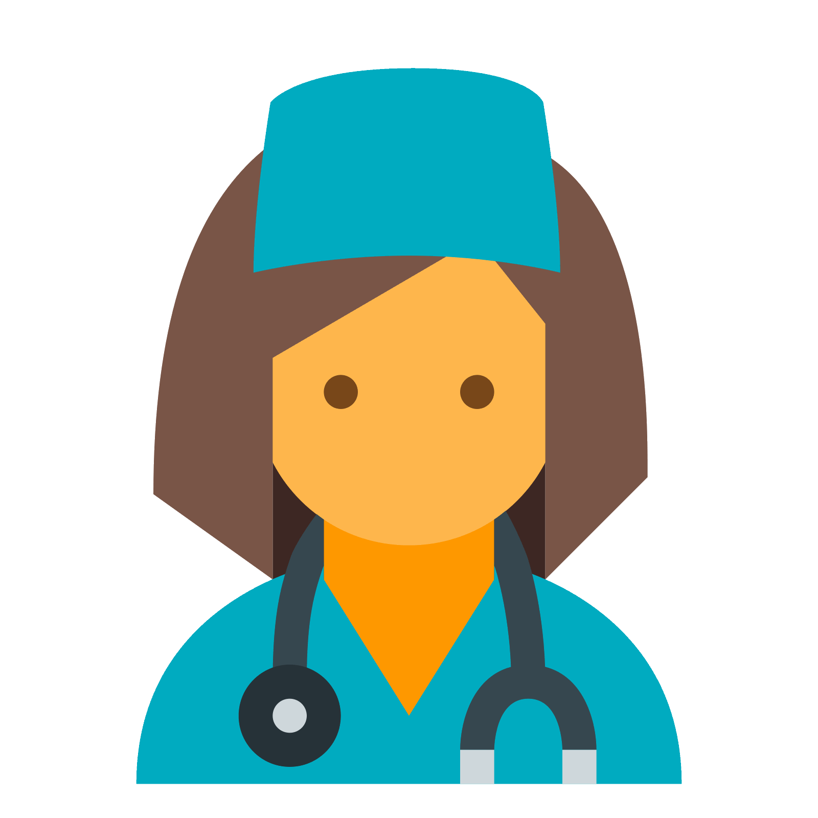 clip royalty free library Vector doctor. Female png icon