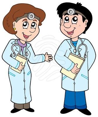 vector freeuse stock Doctors clipart. Clip art two cartoon