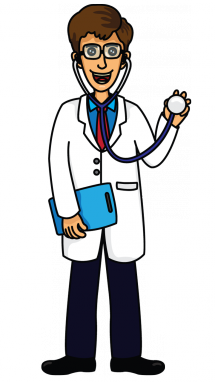 clip stock How to Draw a Doctor
