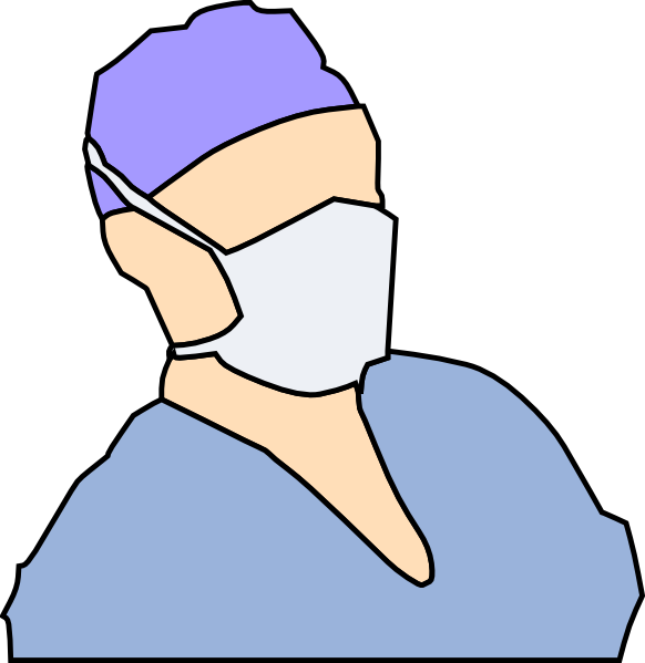 freeuse library Doctor Wearing Sanitary Mask Clip Art at Clker