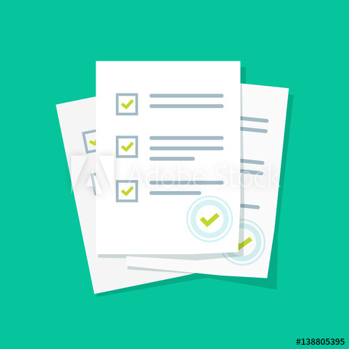 svg library download Survey or exam form. Document vector