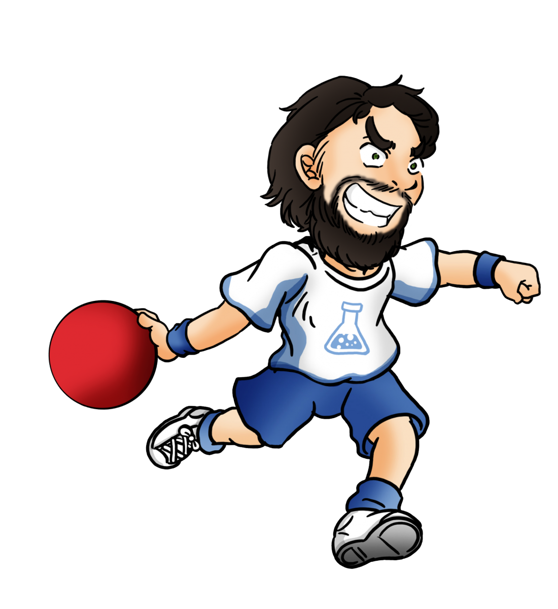clip freeuse library dodgeball clipart player #78260271