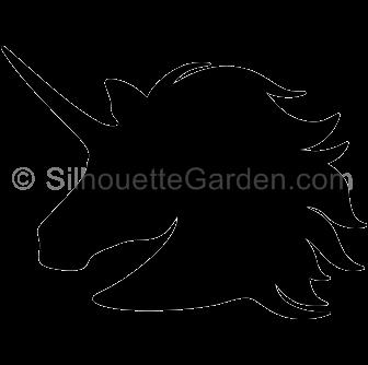svg royalty free stock Unicorn silhouette clip art. Unicornio vector head