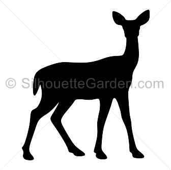 graphic royalty free stock Doe silhouette clip art