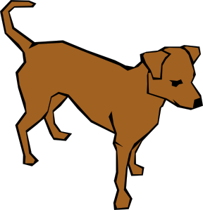 clip stock Dog clipart. Drawn with straight lines